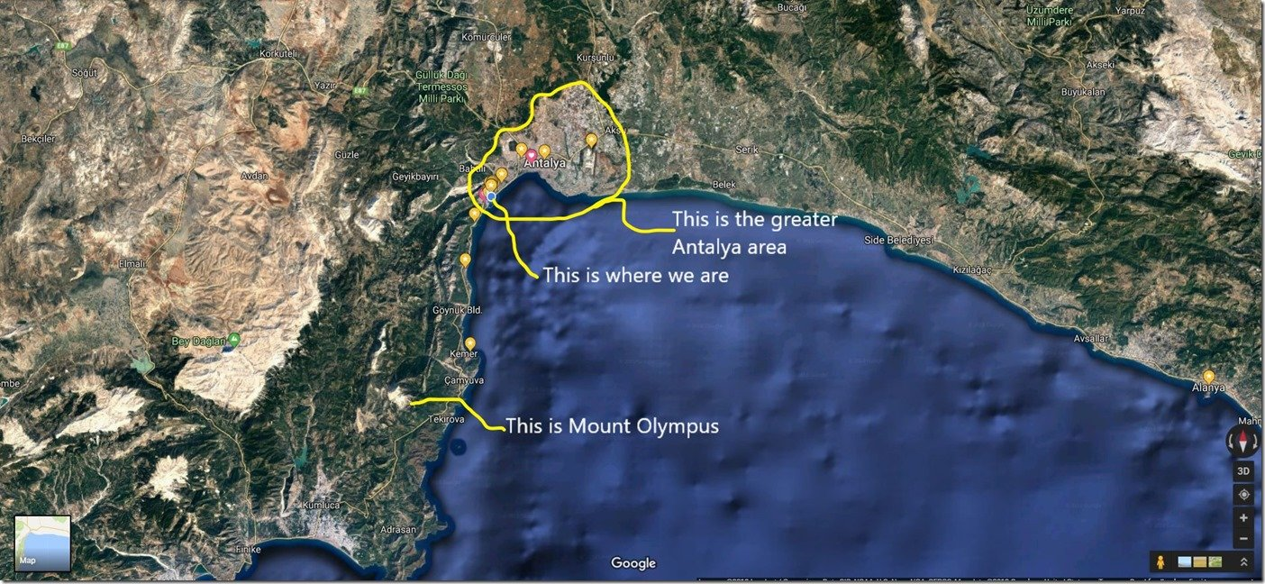 Sat Map whole Antalya Bay