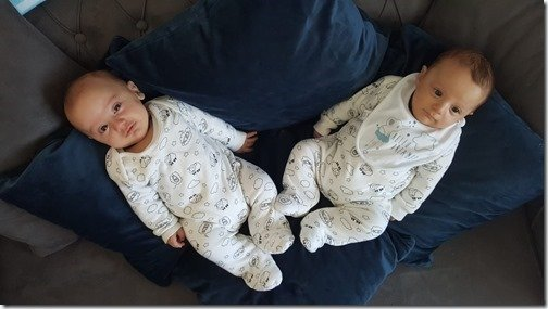 Yigit & Mert March 20 2019 sporting our baby gift clothes