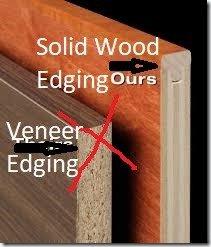 solid edging on veneer ply