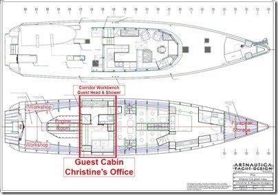 011 Guest Cabin CK Office Layout labelled